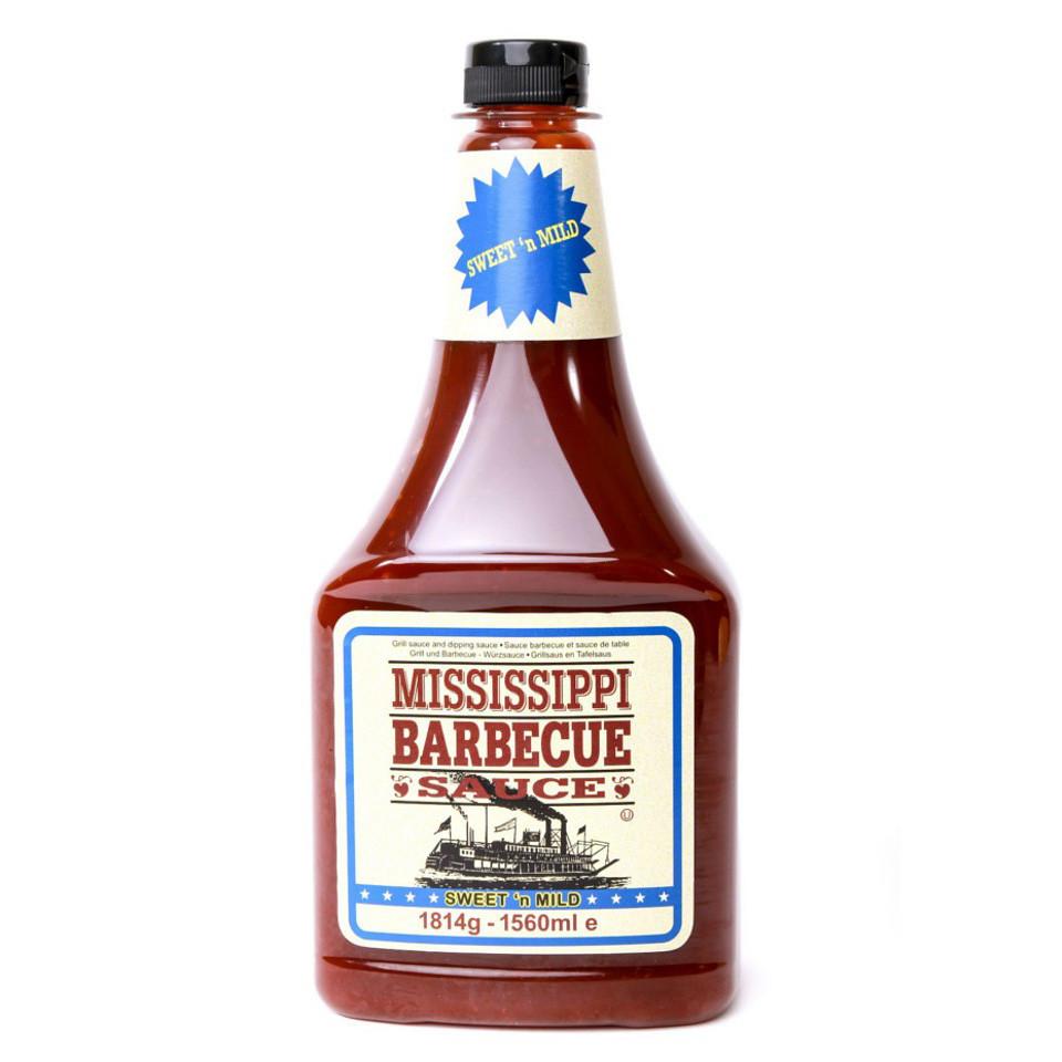Соус BBQ Mississippi Sweet&mild солодко-м'який, 1814г, 9шт/ящ
