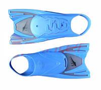 Ласты силиконовые с открытой пяткой для бассейна, в сумке. Размер 25-29.