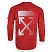 Свитшот мужской красный OFF-WHITE #10 Р-2 RED L(Р) 20-516-212-004, фото 7