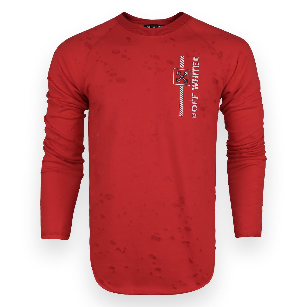 Свитшот мужской красный OFF-WHITE #10 Р-2 RED L(Р) 20-516-212-004
