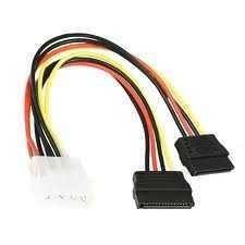 Кабель Gembird CC-SATA-PSY, двойной кабель питания SATA, 15см.