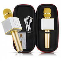 Беспроводной портативный Bluetooth микрофон-караоке оригинал Q7 c чехлом