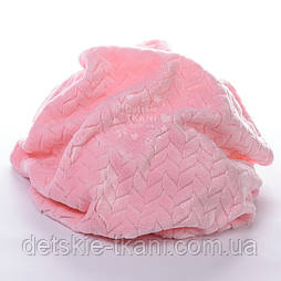 Плюш косичка розового цвета