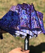 Женский зонт полуавтомат с куполом 98 см Mario с цветочным принтом. Анти-ветер, 9 спиц (1233753841), фото 3