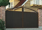 Распашные ворота DoorHan с заполнением сендвич панелями с алюминиевой рамой, фото 2