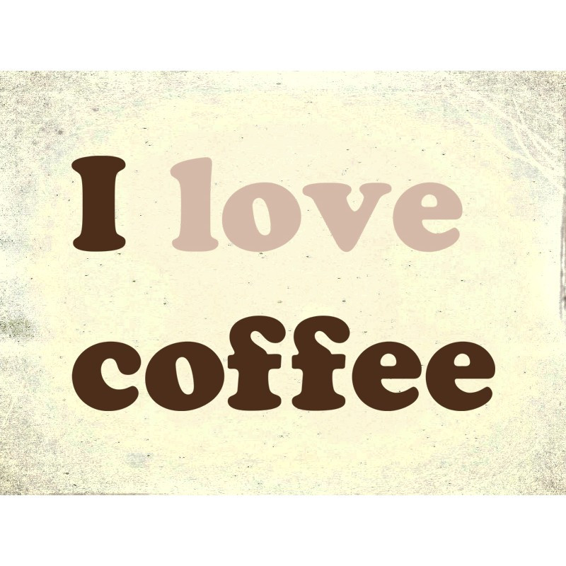 """Наліпка """"Я люблю каву"""" / Виниловая наклейка """"Я люблю кофе"""""""
