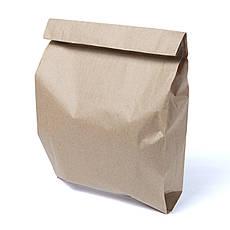Бумажный пакет 220мм*60мм*340мм бурый, фото 3