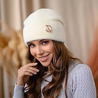 """В'язана шапка """"Юліана"""" колір-білий"""