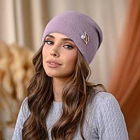 "Вязанная шапка ""Юлиана"" цвет-пудра"