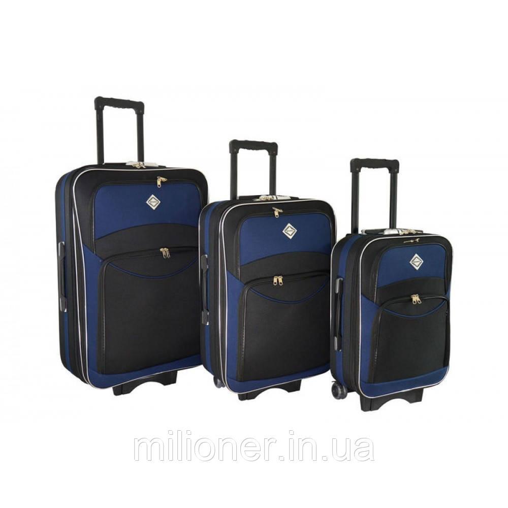 Чемодан Bonro Style набор 3 шт. черно-т. синий