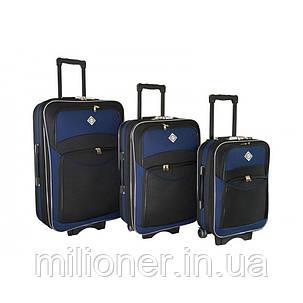 Чемодан Bonro Style набор 3 шт. черно-т. синий, фото 2