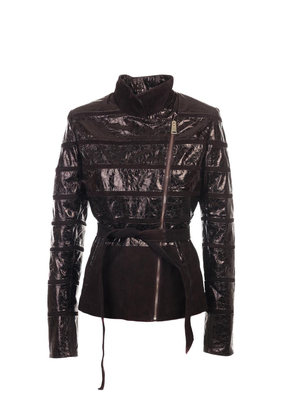 Кожаная куртка VK коричневая с замшей (Арт. RA-LAN221-3)