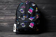 Рюкзак мужской женский Brains черный городской спортивный портфель сумка