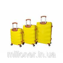 Чемодан Bonro Next набор 5 шт. желтый, фото 3