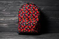 Рюкзак мужской женский Watermelon красный городской спортивный портфель сумка