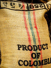 Кофе в зернах. зеленый. Арабика Колумбия Супремо - мешок 70 кг