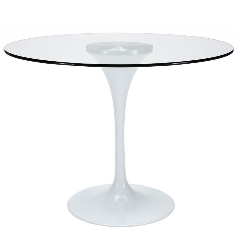 Стол Тюльпан G, стеклянный, диаметр 80 см