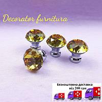 Ручки для мебели со стразами и кристаллами 30 мм