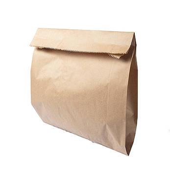 Бумажный пакет для хлеба и лаваша 300мм*110мм*400 бурый, фото 2