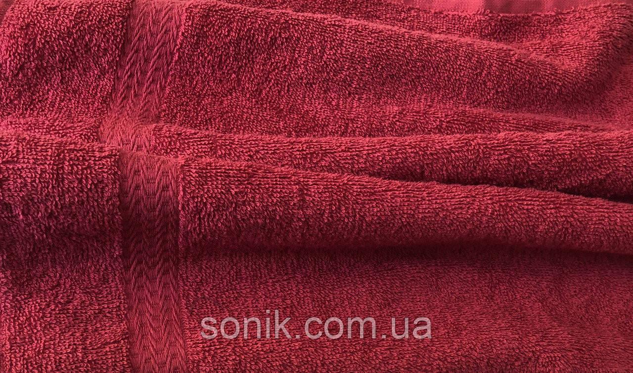 Полотенце махровое красное 50*90