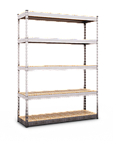 Стеллаж полочный МКП МКП405 на зацепах  (2520х1600х700)
