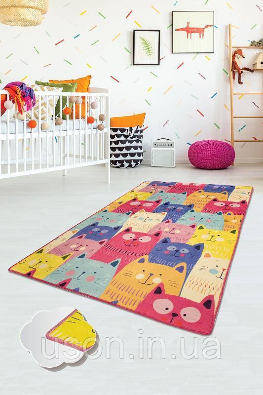 Коврик прямоугольный в детскую комнату Chilai Home Cats Renkli 140*190