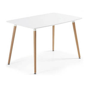 Стол Нури, ножки бук, 120х80 см, цвет белый