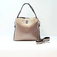 Женская сумка розовая маленькая повседневная натуральная кожа, фото 1