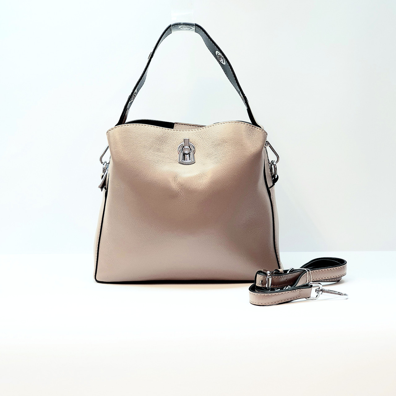 Женская сумка розовая маленькая повседневная натуральная кожа