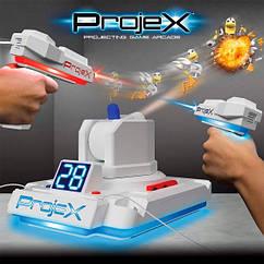 Игровой набор для лазерных боев - ПРОЕКТОР LASER X (2 игр. бластера, 3 слайда-цели)