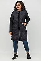 Оригинальное трикотажное пальто кардиган больших размеров , модная повседневная батальная одежда для женщин