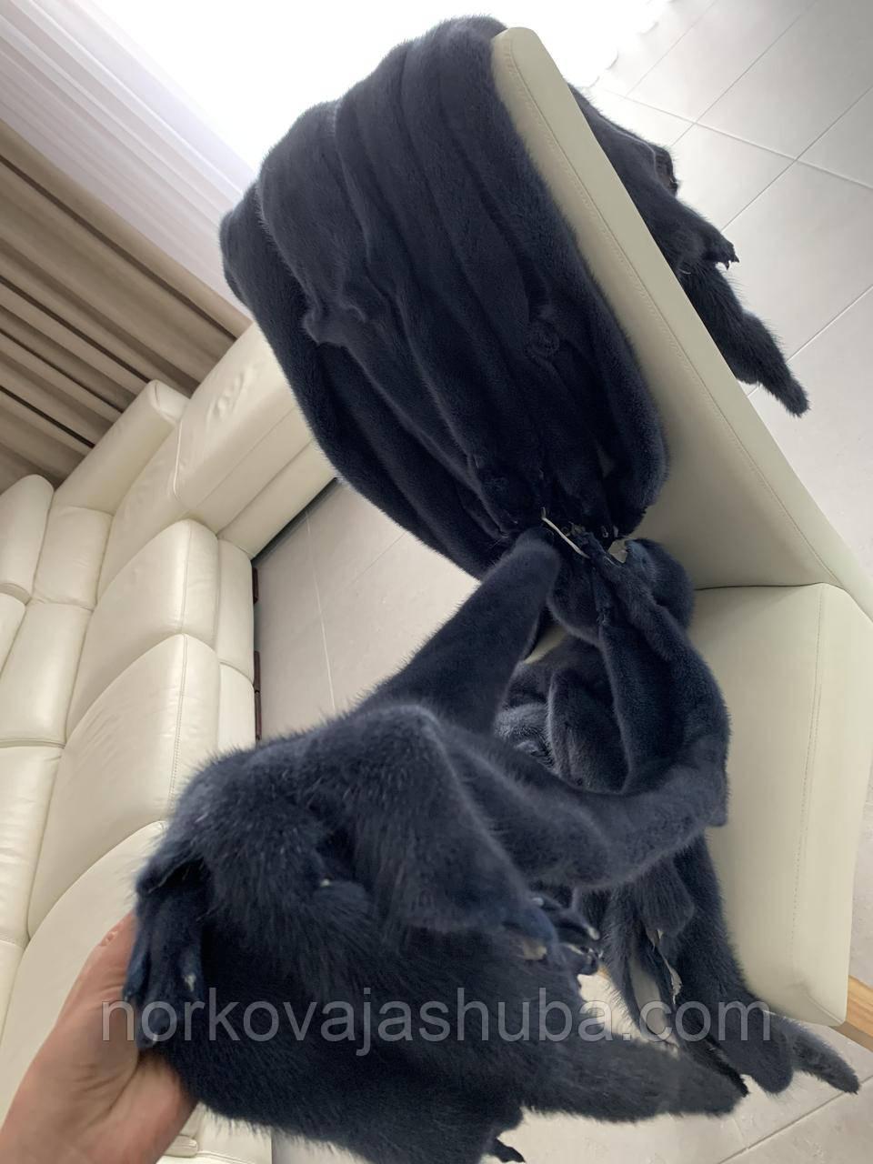 Женская норковая шуба под пояс размер M