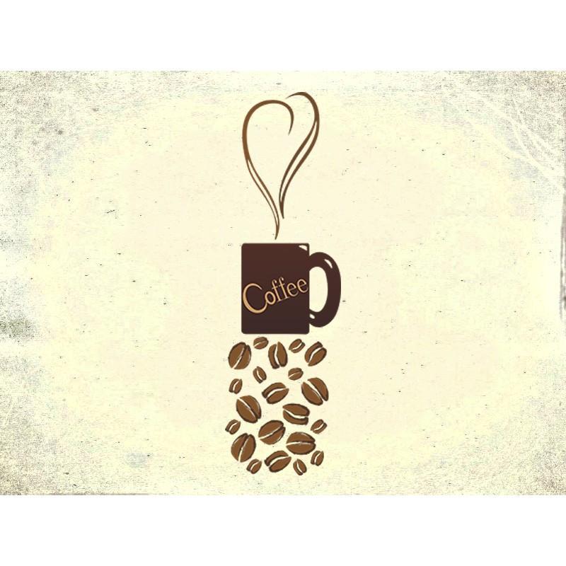 """Наліпка """"Coffee"""" / Виниловая наклейка """"Coffee"""""""