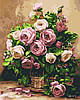 Картина по номерам Букет роз, цветной холст, 40*50 см, без коробки Barvi