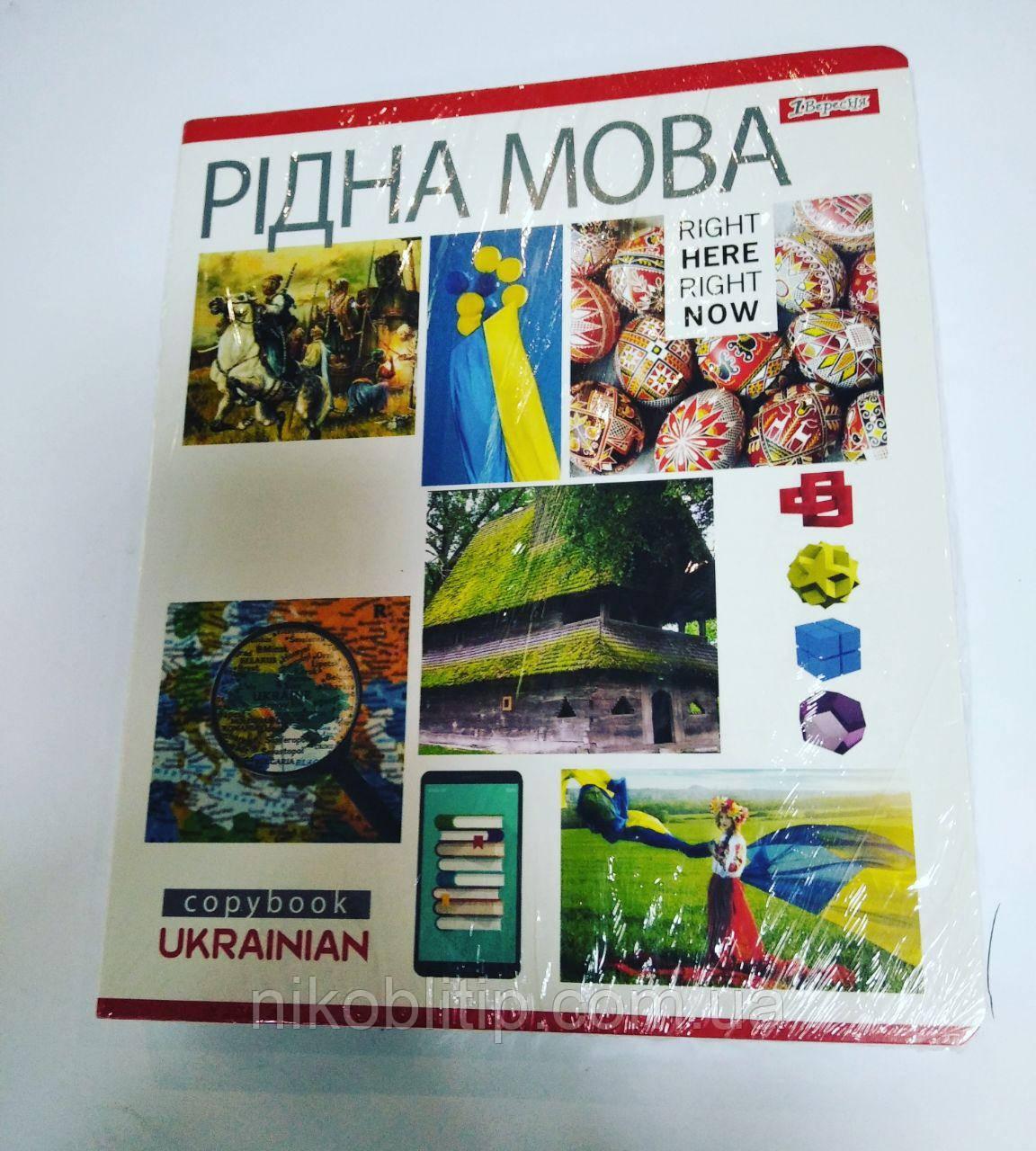 Набір із 5 зошитів по 48 аркушів з рідної мови