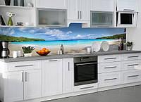 Виниловая наклейка кухонный фартук-скинали 60х300 см ReD Тропический пляж Баунти (самоклейка на кухню)
