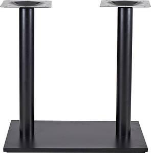 Опора для стола Рона, металл, крашенная, цвет черный, высота 72 см, основание 40*70 см