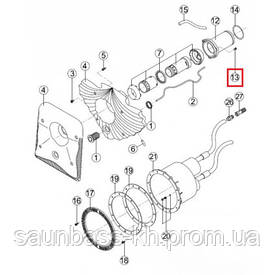 Комплект кріплення застави протитоку (RUSS0351.00R) Kripsol