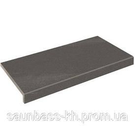 Бортова плитка Aquaviva Montagna Dark Gray, Г-подібна, 595x345x50(20)