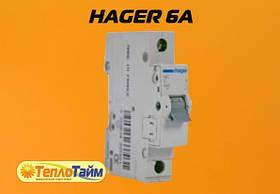 Автомат HAGER 6А 1-полюсний