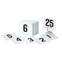 Банкетный карт-номер 1-25, 10х10см Pro Master арт.10161