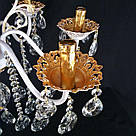 Люстра хрустальная  на 6 рожков белая с золотом JB-29101/6 GD+WT+WT, фото 5