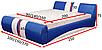 Мягкая кровать Драйв 160 Вика (с матрасом), фото 3