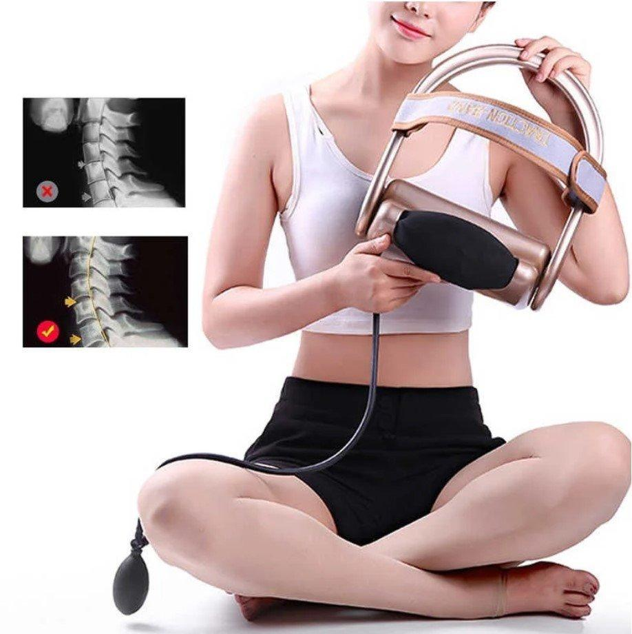 Тренажер для коррекции шейного отдела позвоночника Сervical vertebra traction № G70 | Массажер для шеи