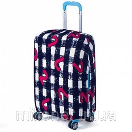 Чехол для чемодана Bonro маленький черно-белый (12052003) S, фото 2