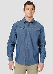 Рубашка джинсовая Wrangler- Dark Denim Solid