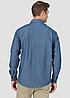 Рубашка джинсовая Wrangler- Dark Denim Solid, фото 2