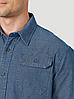 Рубашка джинсовая Wrangler- Dark Denim Solid, фото 3