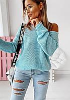 Модный базовый женский вязаный свитер размер универсальный 42-46, фото 1