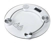 Напольные бытовые весы Domotec электронные круглые стекло до 180 кг